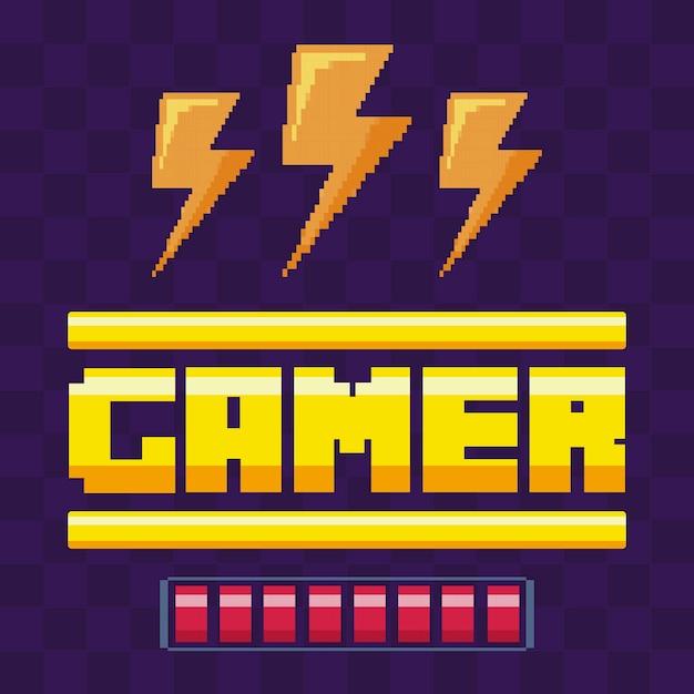 Classic video game power rays Premium Vector