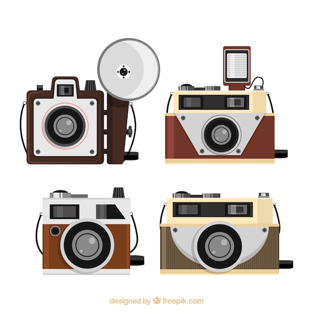 Classic vintage cameras collection
