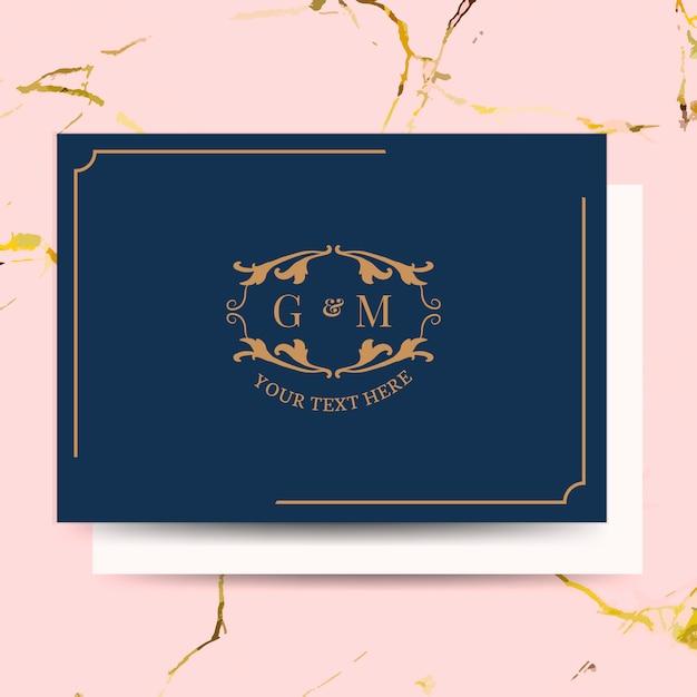 Classic wedding invitation card Free Vector