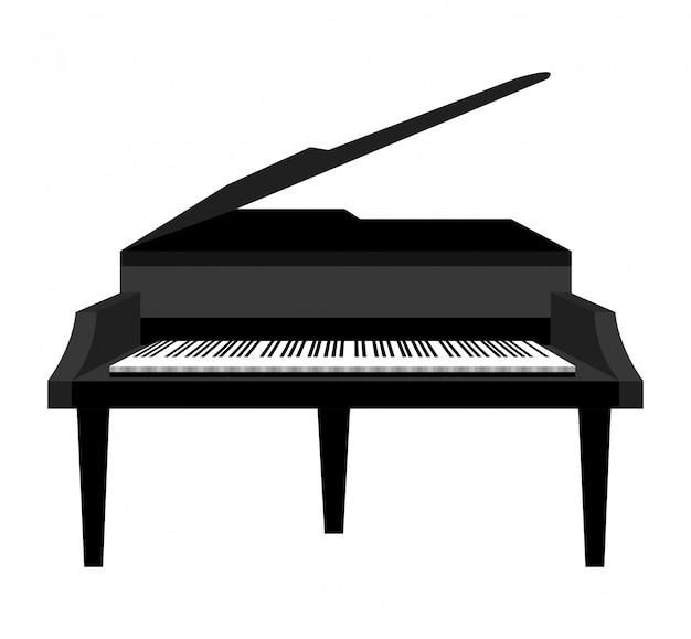 古典的なグランドピアノの図 無料ベクター
