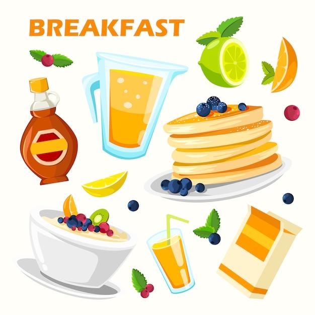 Classical hotel breakfast menu poster Free Vector