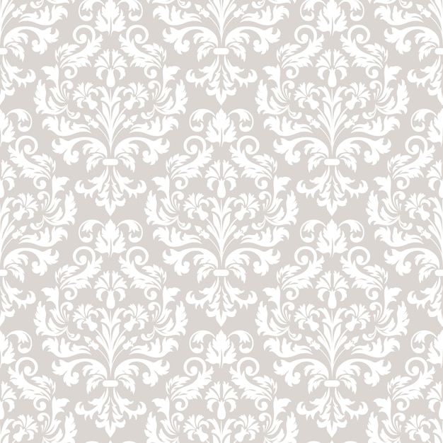 Classical luxury old fashioned damask pattern Free Vector