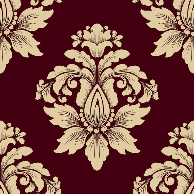 Classical luxury old fashioned damask pattern. Free Vector