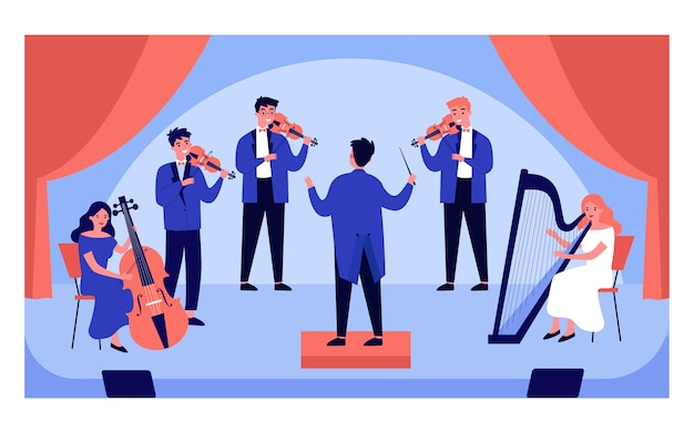 Classical music concert    illustration Premium Vector