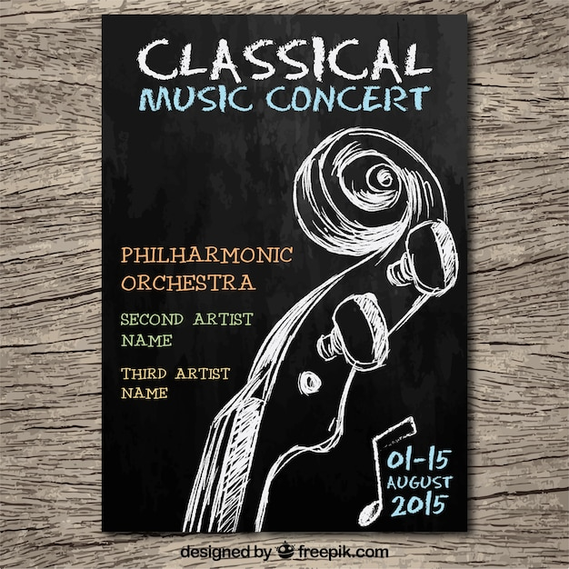 classical music concert poster vector free download