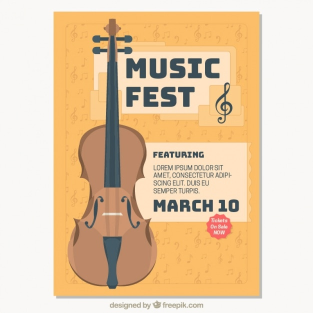 Classical Music Festival Brochure Vector  Free Download
