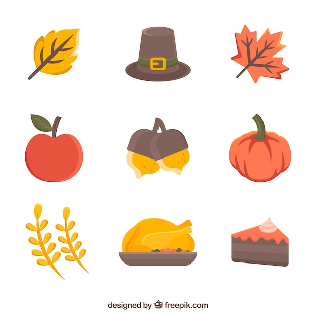 Classical thanksgiving elements Free Vector