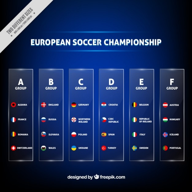 Classification of euro 2016 template Free Vector