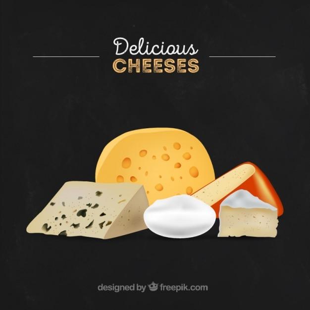 Classy cheese Premium Vector