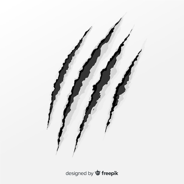Claw scratches Free Vector