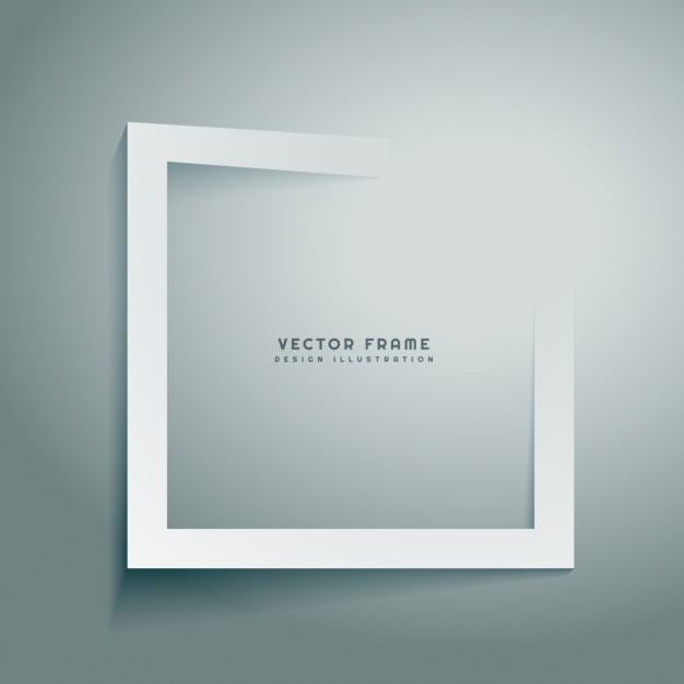 clean abstract frame Free Vector