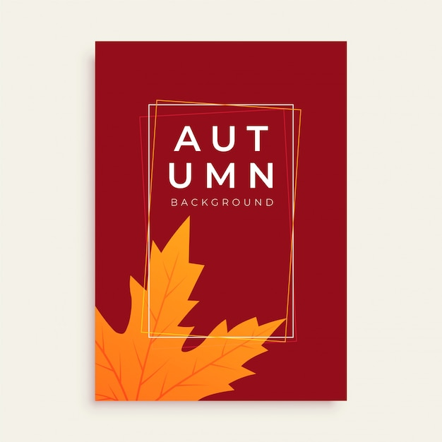 clean autumn flyer design with text space vector free download