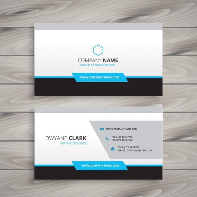 Clean Business Card For Company Vector Free Download