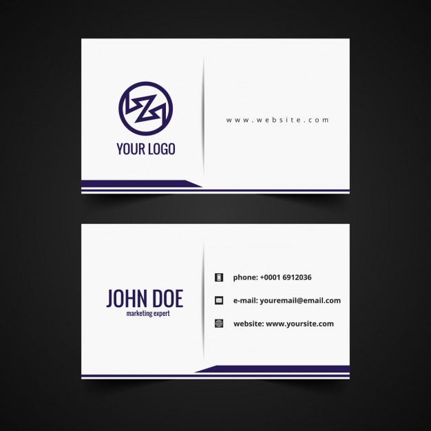 clean business card design vector free download