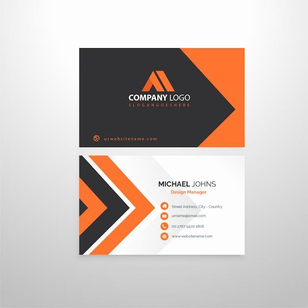 Clean business card Premium Vector