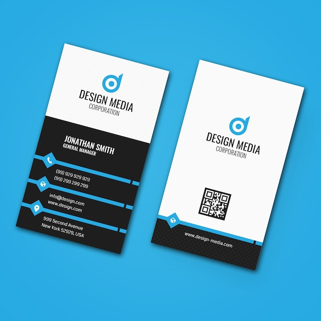 Clean corporate business card Premium Vector