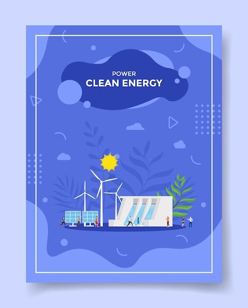 Альтернативная концепция чистой энергии для шаблона флаера Premium векторы