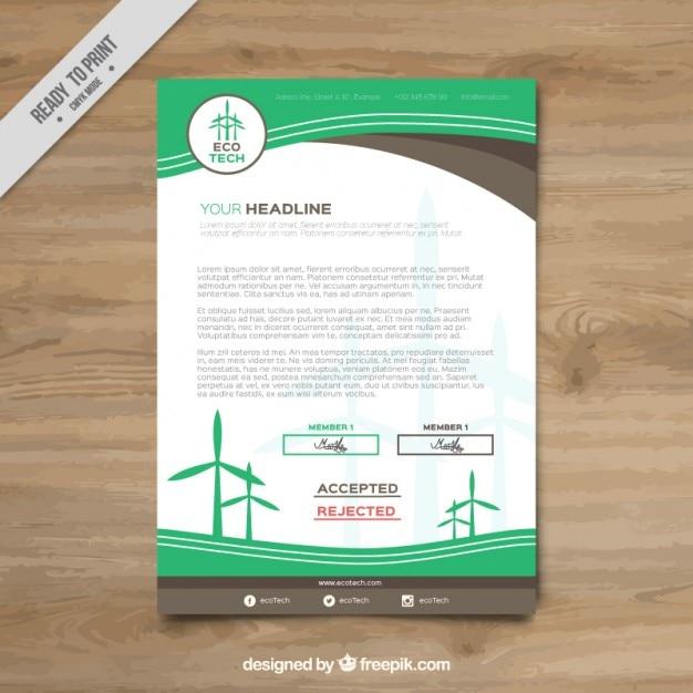 Clean energy brochure Free Vector