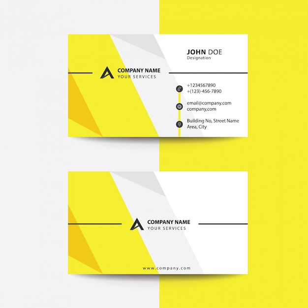 Download Free Flat Clean Corporate Business Flyer Template: Clean Flat Premium Minimal Style Yellow Gray Corporate