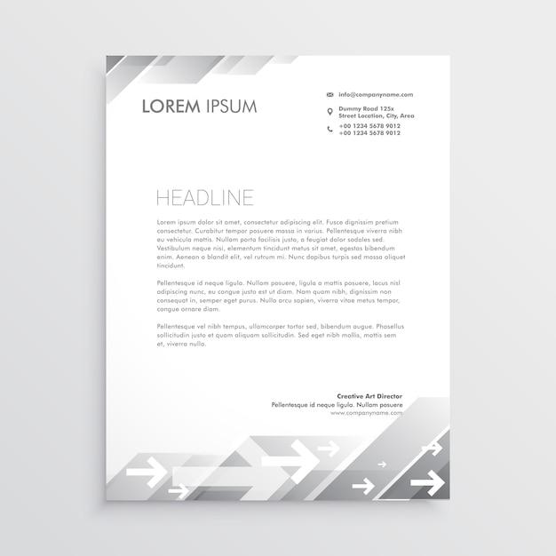Clean gray letterhead design template Vector | Free Download