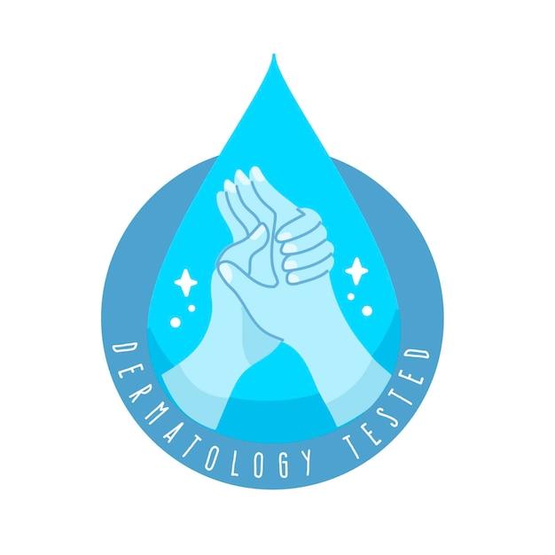 きれいな手の石鹸のロゴのテンプレート 無料ベクター