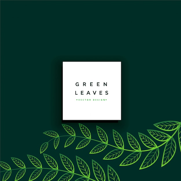 Clean minimal green leaves background Free Vector