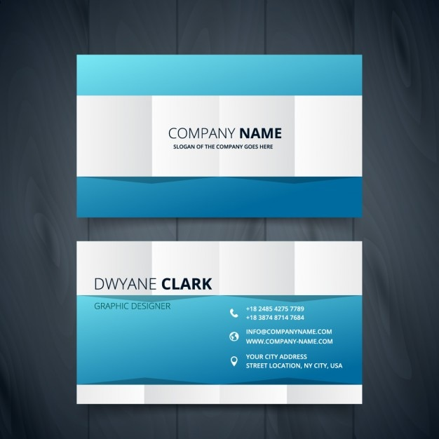 clean modern business card design vector free download