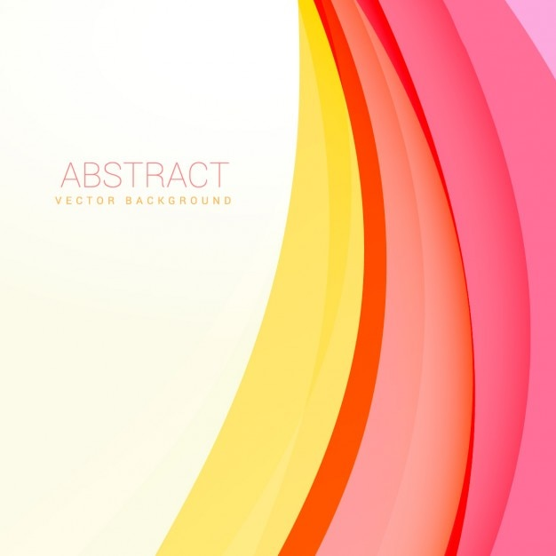 Clean modern wave background design Vector | Free Download