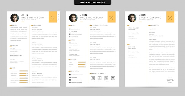Clean professional cv template Premium Vector