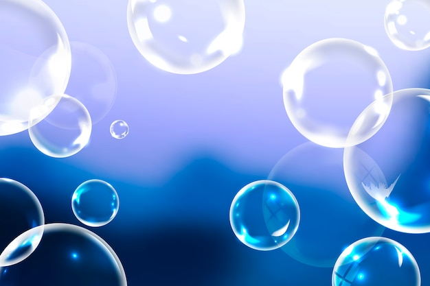 Clean soap bubbles Free Vector