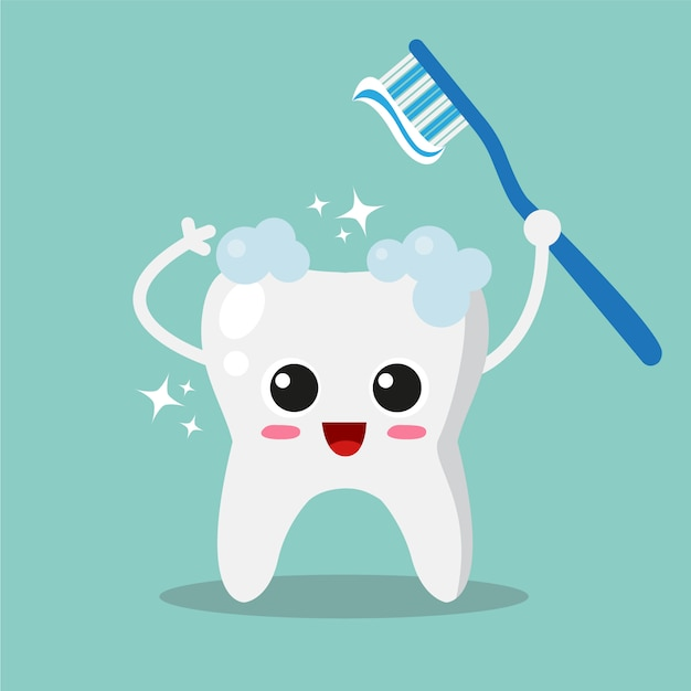 Clean tooth background Free Vector