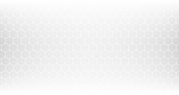 Clean white hexagonal pattern mesh Free Vector