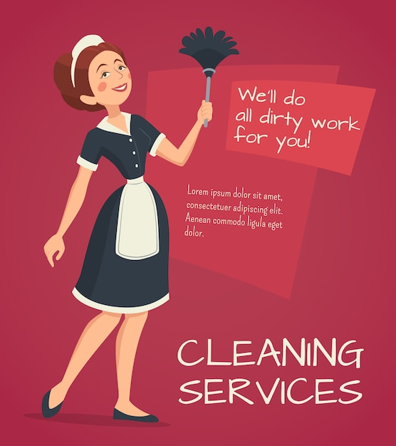 Cleaning advertisement illustration Free Vector