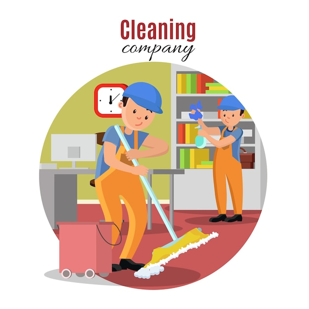 Cleaning company template Free Vector