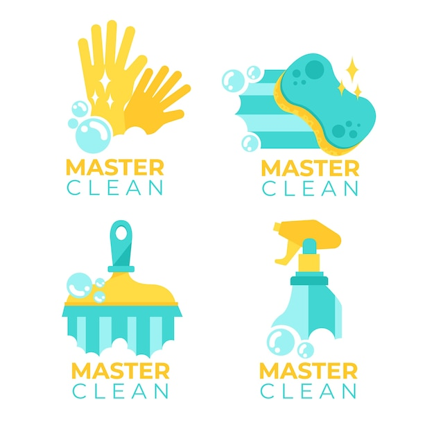 Cleaning logo collection template concept Free Vector