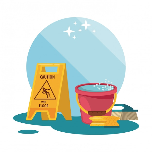 Cleaning service and housekeeping Free Vector