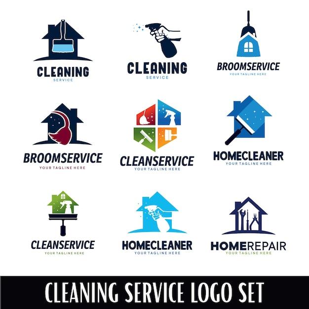 Premium Vector Cleaning Service Logo Designs Template