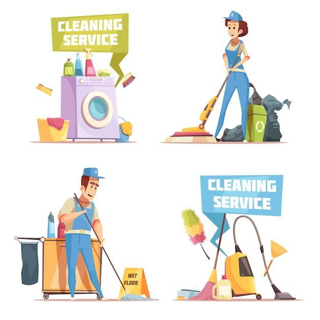 Servizio di pulizia Vettore gratuito
