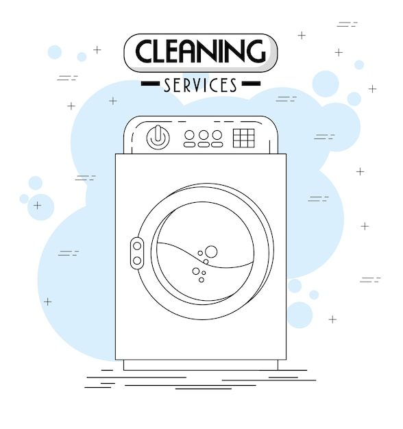 Cleaning services emblems and logos Premium Vector