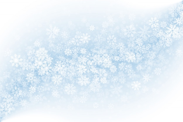 Clear blank winter background Premium Vector