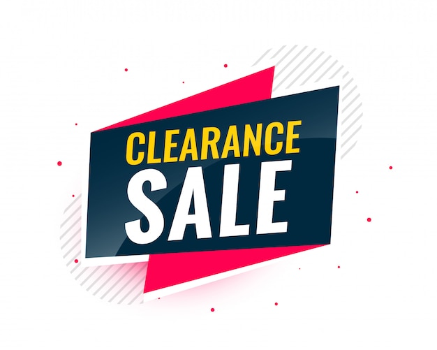 Clearance sale banner in creative design Free Vector