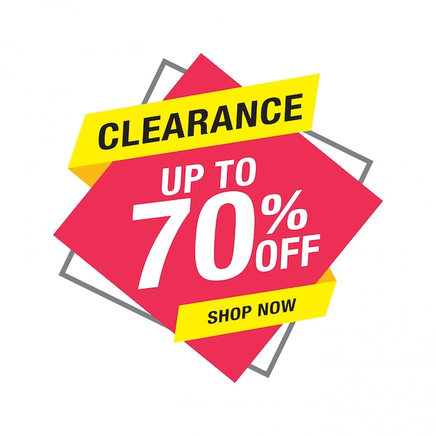 Clearance sale banner design, sale and discounts Premium Vector