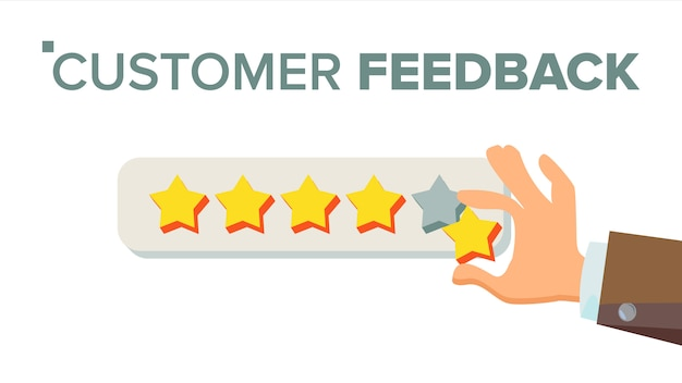 Client giving rating Premium Vector