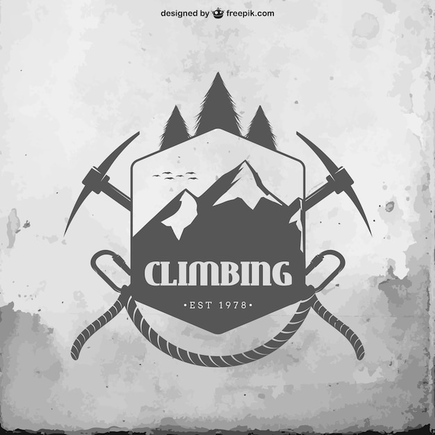 Climbing badge Free Vector
