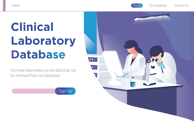 Clinical laboratory database Vector | Premium Download