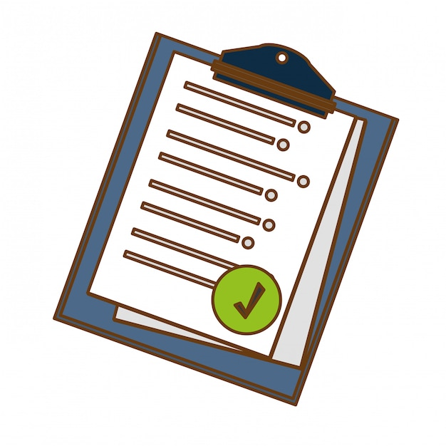 Clipboard with sheet on it icon image Premium Vector