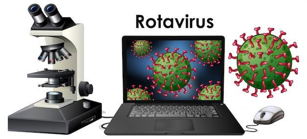 Close up isolated object of virus rotavirus Free Vector