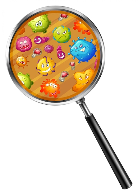 Close up look of germs Premium Vector