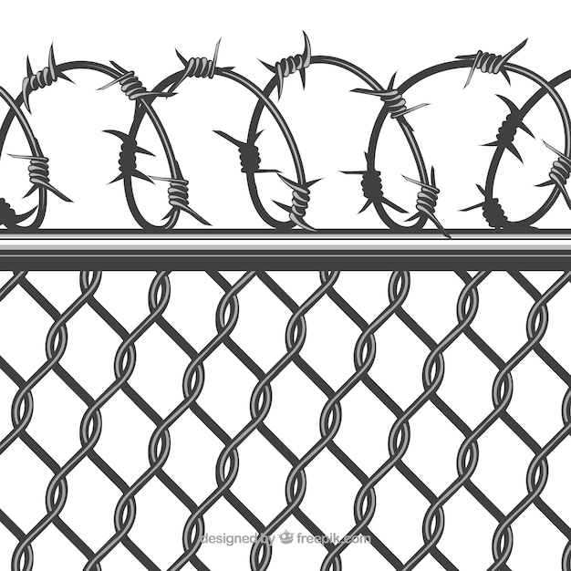 Magnificent Barbed Wire Fence Cartoon Image - Everything You Need to ...