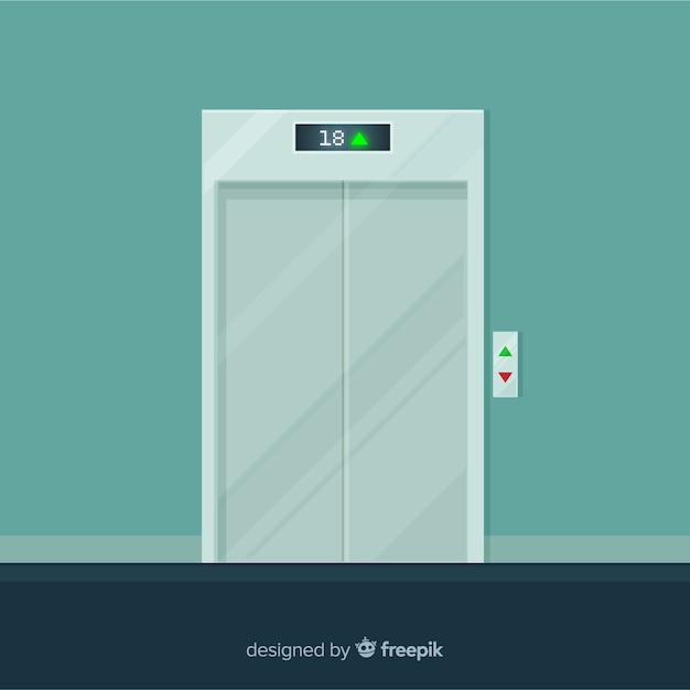 Closed elevator Free Vector